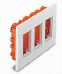Коробки для врезного монтажа 3ряд. вертикальный 12мод. белый U22.734.18