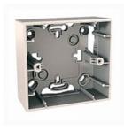Коробки для накладного монтажа 1ряд. слоновая кость MGU8.002.25
