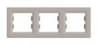 Рамка 3 поста бронза горизонтальный EPH5800369