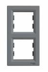 Рамка 2 поста сталь вертикальный EPH581026