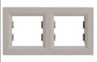 Рамка 2 поста бронза горизонтальный EPH5800269
