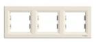Рамка 3 поста слоновая кость горизонтальная EPH5800323