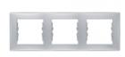 Рамка 3 поста алюминий горизонтальная SDN5800560