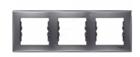 Рамка 3 поста графит горизонтальная SDN5800570