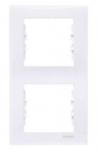 Рамка 2 поста белая вертикальная SDN5801121