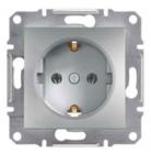 Механизм розетки (2К+З) 16A со шторками алюминий EPH2900261
