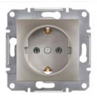 Механизм розетки (2К+З) 16A со шторками бронза EPH2900269