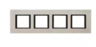 Рамка 4 поста лунный алюминий MGU68.008.7A2