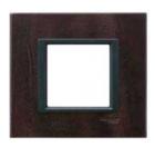 Рамка 1 пост кожа трюфель MGU68.002.7P2