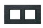 Рамка 2 поста черный камень MGU68.004.7Z1