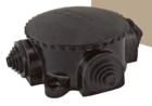 Коробка электромонтажная КЭМ 1-10-4Б D78 мм IP44 открытой проводки 4-х рожковая (карболит)
