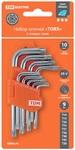 """Набор ключей """"TORX"""" с отверстием 9 шт: Т10-Т50 (держатель в блистере), CR-V сталь """"Алмаз"""" TDM"""