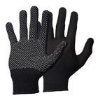Перчатки нейлоновый черные/синие с ПВХ Точка Эконом