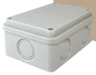 Распаячная коробка ОП 120х80х50мм, крышка, IP55, 6 вх., без гермовводов