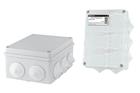 Распаячная коробка ОП 150х110х70мм, крышка, IP44, 10 гермовводов