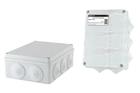 Распаячная коробка ОП 190х140х70мм, крышка, IP55, 10 гермовводов