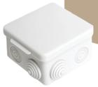 Распаячная коробка ОП 80х80х50мм, крышка, IP54, 7вх
