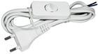 Шнур сетевой 1.7m с выключателем, белый /черный