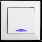 Visage Выключатель 1-клав. с подсветкой Белый