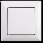 Visage Выключатель 2-клав. Белый