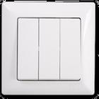 Visage Выключатель 3-клав. Белый