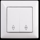 Visage Выключатель проходной 2-клав. Белый