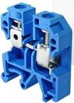 Зажим наборной ЗНИ-4мм. кв. (JXB35A)    синий  на DIN-рейку
